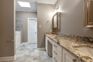 Denham Springs Bathroom for Home Remodel with polished granite