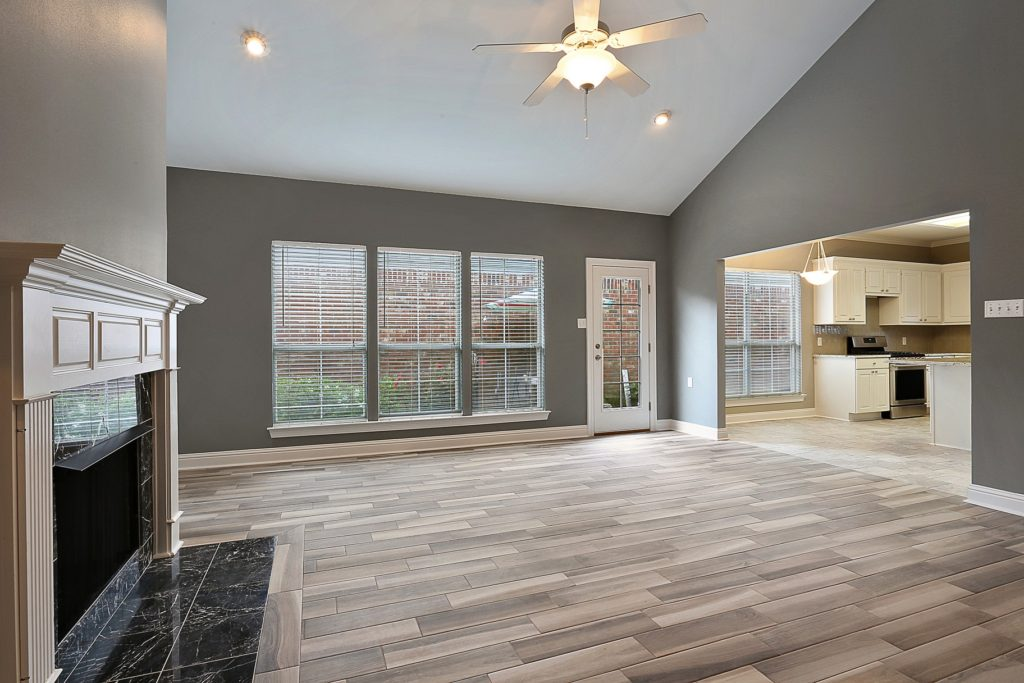 Denham Springs Living Room for Home Remodel with Fireplace