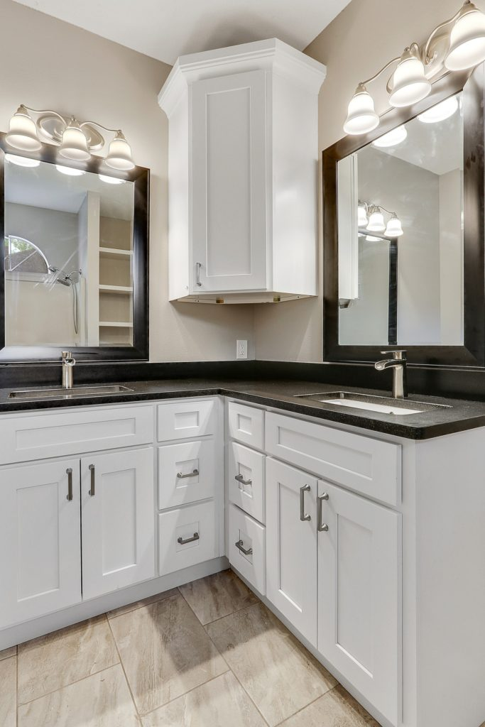 Central Bathroom for Home Remodel with Shaker Cabinets