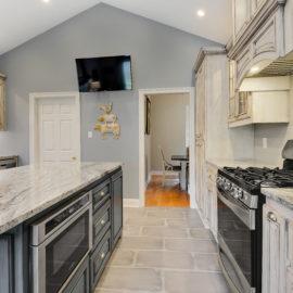Custom Microwave Cabinet Kitchen Remodel