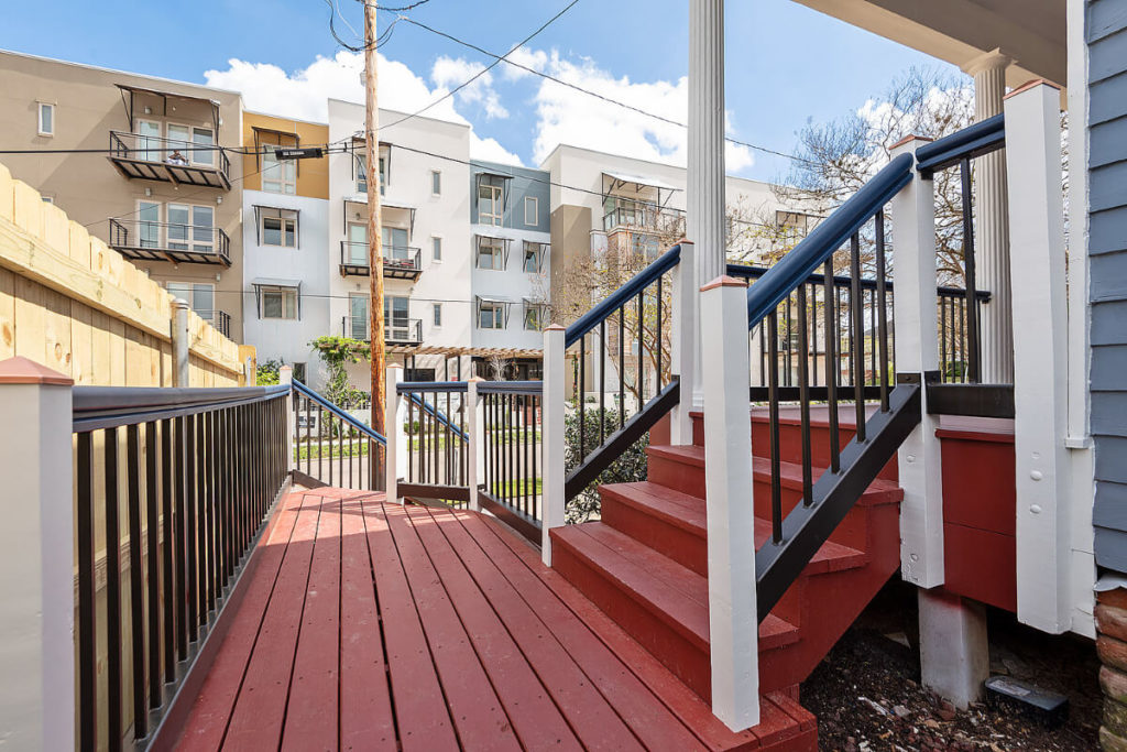 Historic Restoration and Renovation for new deck landing